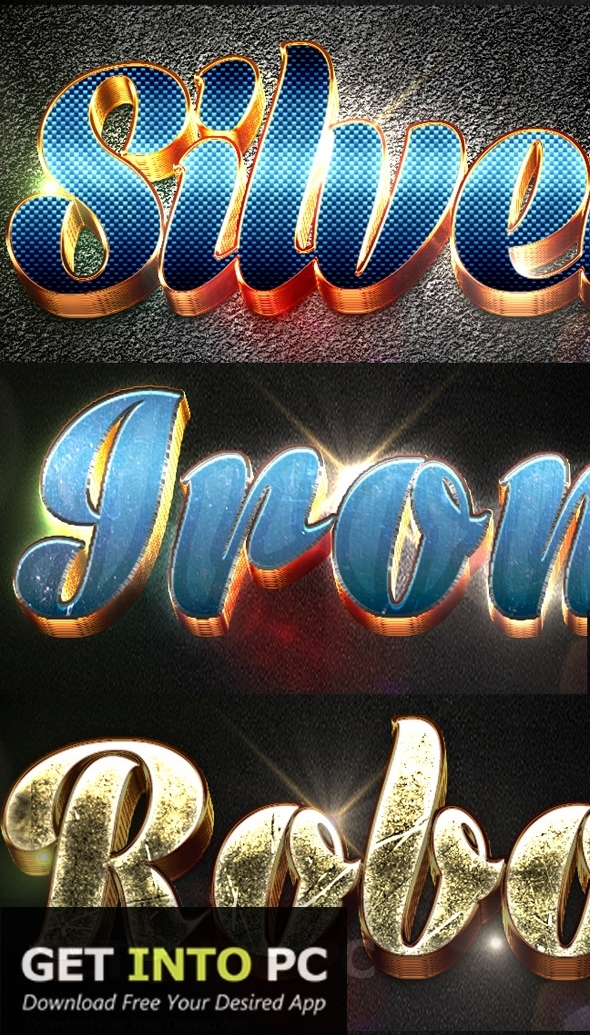 Graphicriver 12 3D Text Effects v4