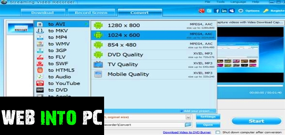 Apowersoft Streaming Video Recorder-get into pc