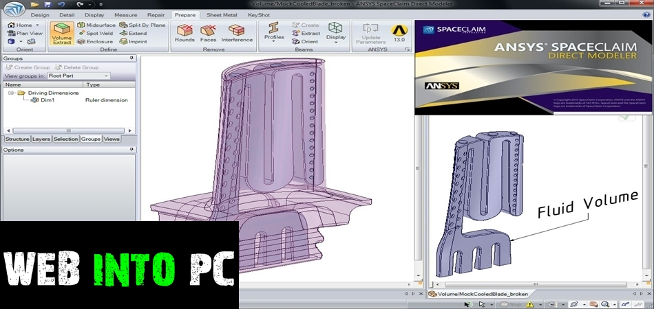 ANSYS SpaceClaim Direct Modeler 2014-getintomypc
