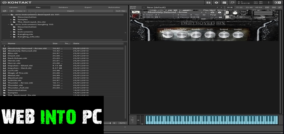Strix Instruments – Destroyed Six – Cinematic Detuned Pianos-web into pc