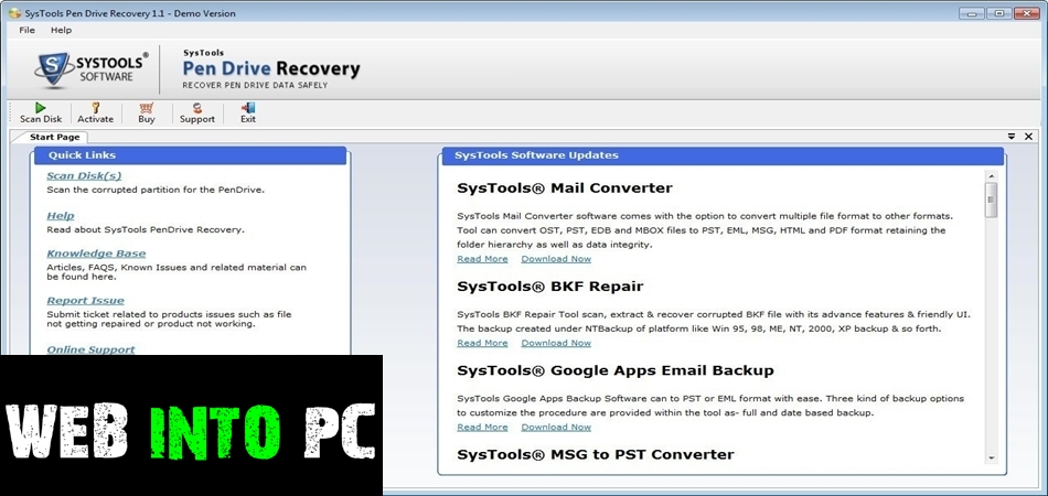 SysTools Pen Drive Recovery 2019-getintodesktop