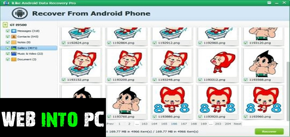 iLike Android Data Recovery Pro-web into pc