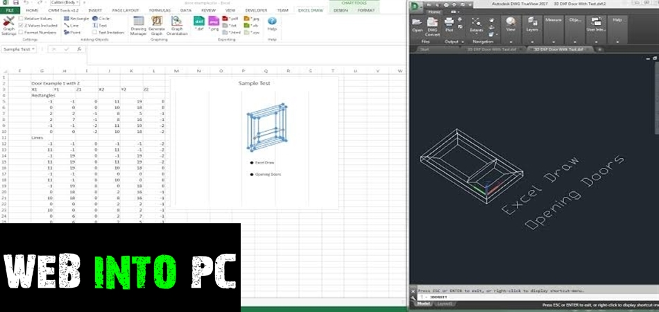 Gray Technical Excel Draw-web into pc