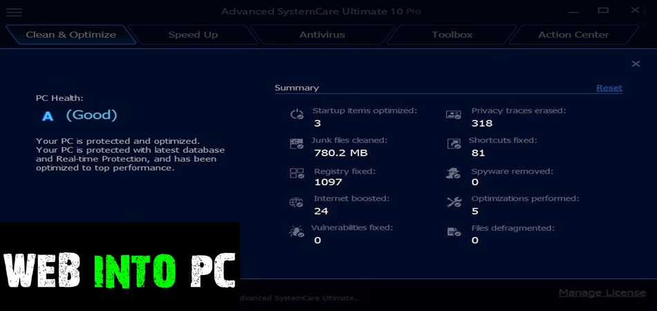 Advanced SystemCare Ultimate 10-get into pc