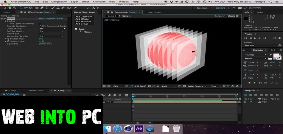 Rowbyte Plexus 3 for After Effects-get into pc